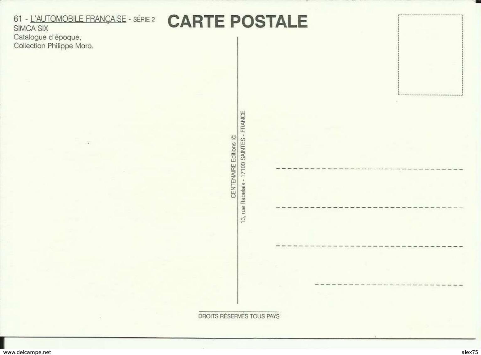 PUB SIMCA - Berline Décapotable -- CPM  (1) - Publicidad