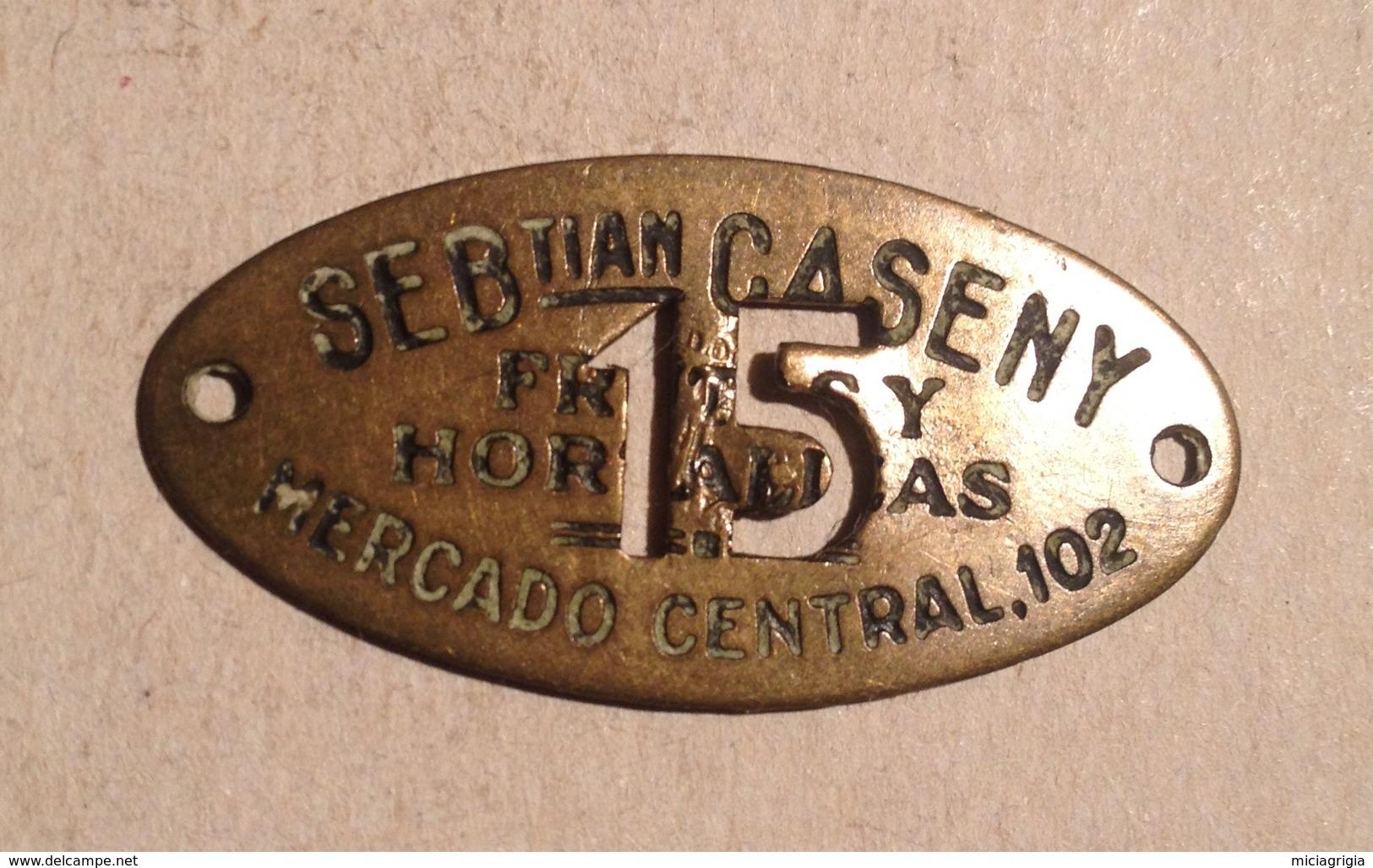 TOKEN JETON GETTONE MERCADO CENTRAL15 - Monétaires/De Nécessité