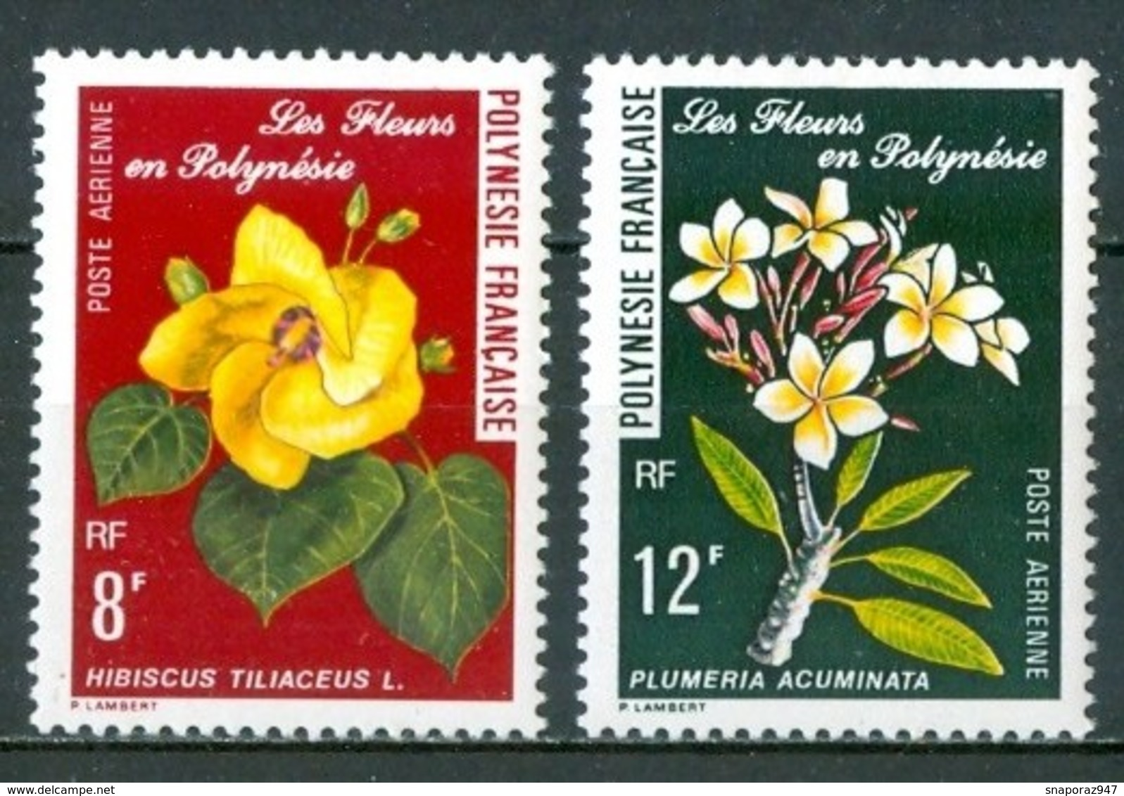 1977 Polinesia Fiori Flovers Fleurs MNH** Fio193 - Polinesia Francese