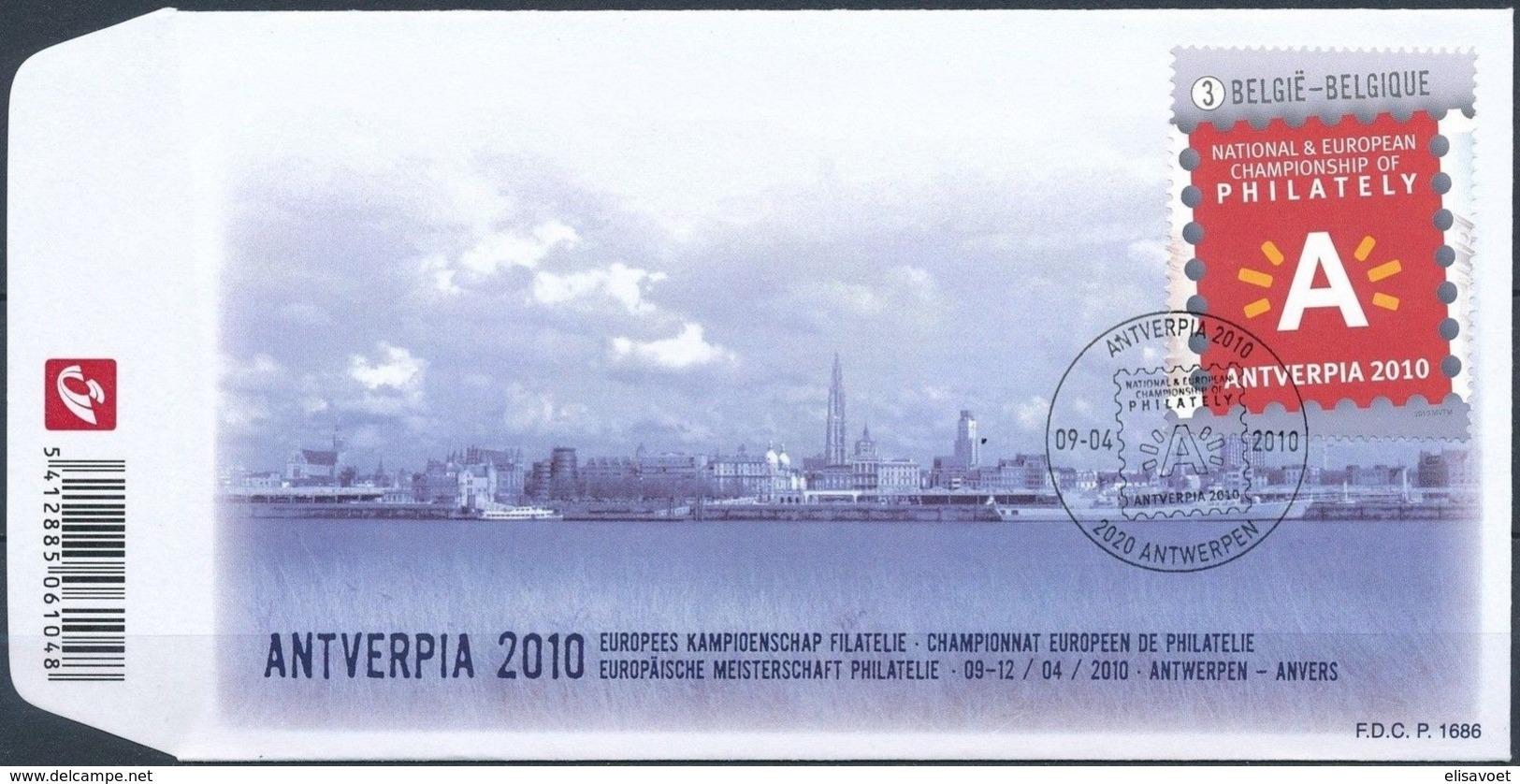 Belgie Belgique  2010 OCBn° FDC 4029 (o) Oblitéré  Cote 20,00 Euro  Antverpia 2010 - 2001-10