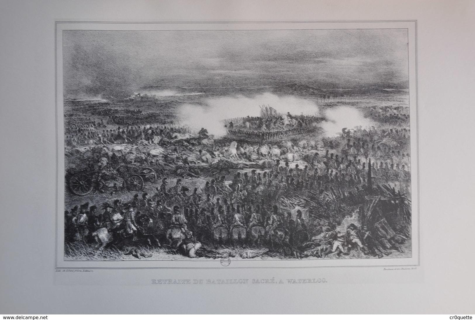 GRAVURE 1208 / RETRAITE DU BATAILLON SACRE A WATERLOO Par DENIS RAFFET - Prints & Engravings
