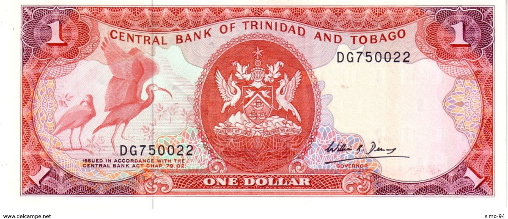Trinidad & Tobago P.36b 1 Dollar 1985 Unc - Trinidad & Tobago