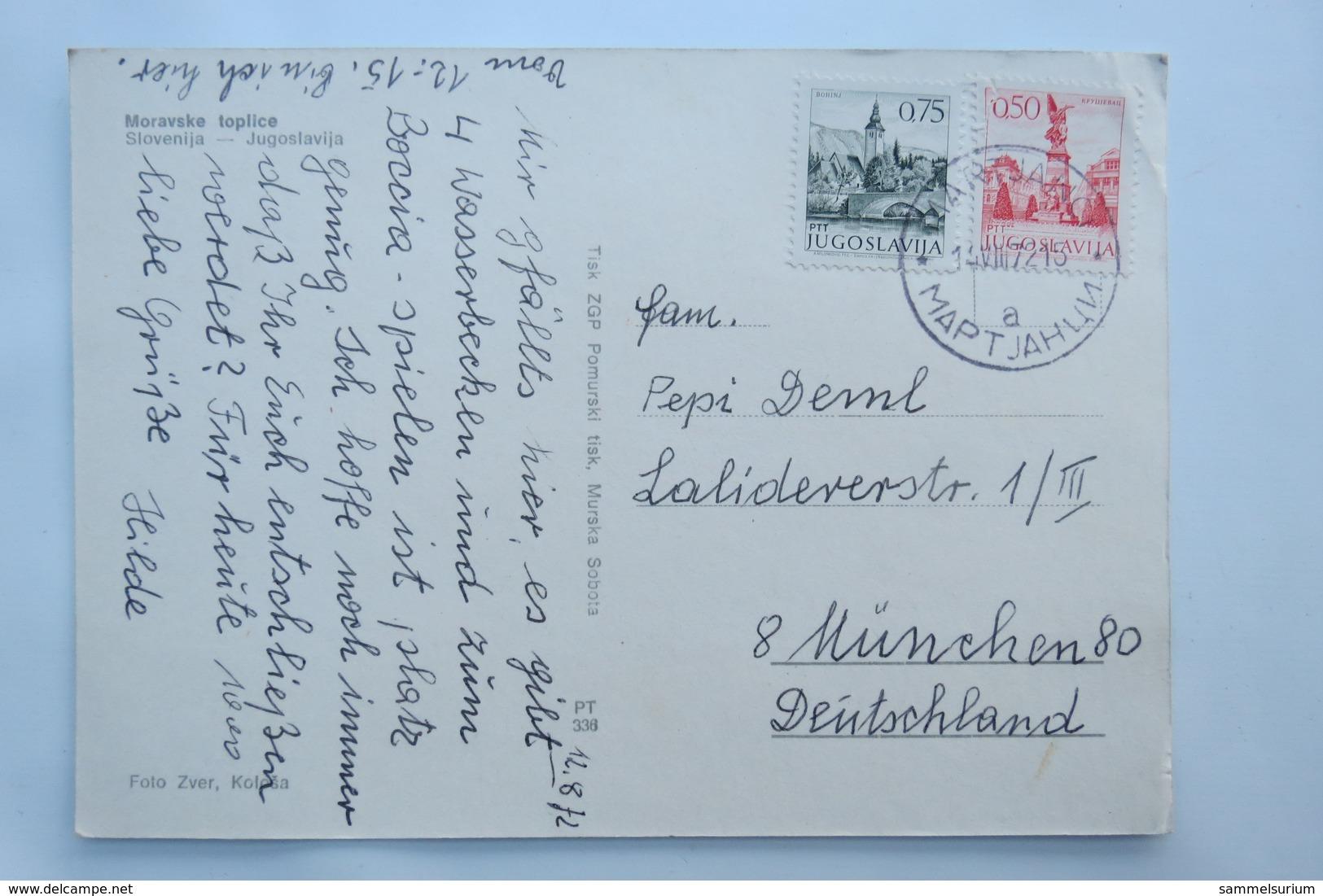 "(9/8/97) AK ""Moravske Toplice"" Slovenija, Jugoslavia - Slovenië"