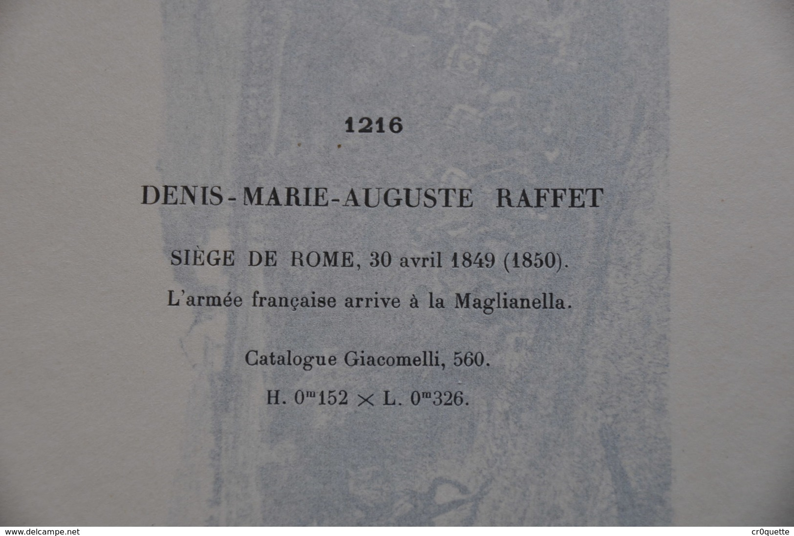 GRAVURE 1216 / SIEGE DE ROME A MAGLIANELLA Par DENIS RAFFET - Prints & Engravings