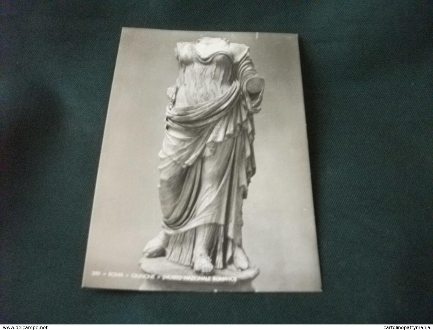 STORIA POSTALE  FRANCOBOLLO ITALIA TURISTICA ROMA GIUNONE MUSEO ROMANO - Sculture