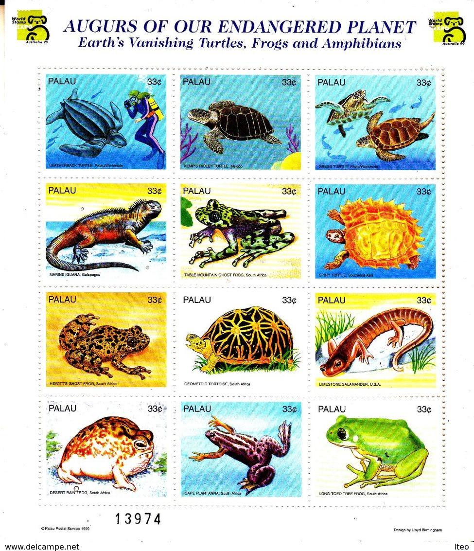 Palau 1251 / 62  Faune En Danger D'extinction - Reptiles & Batraciens