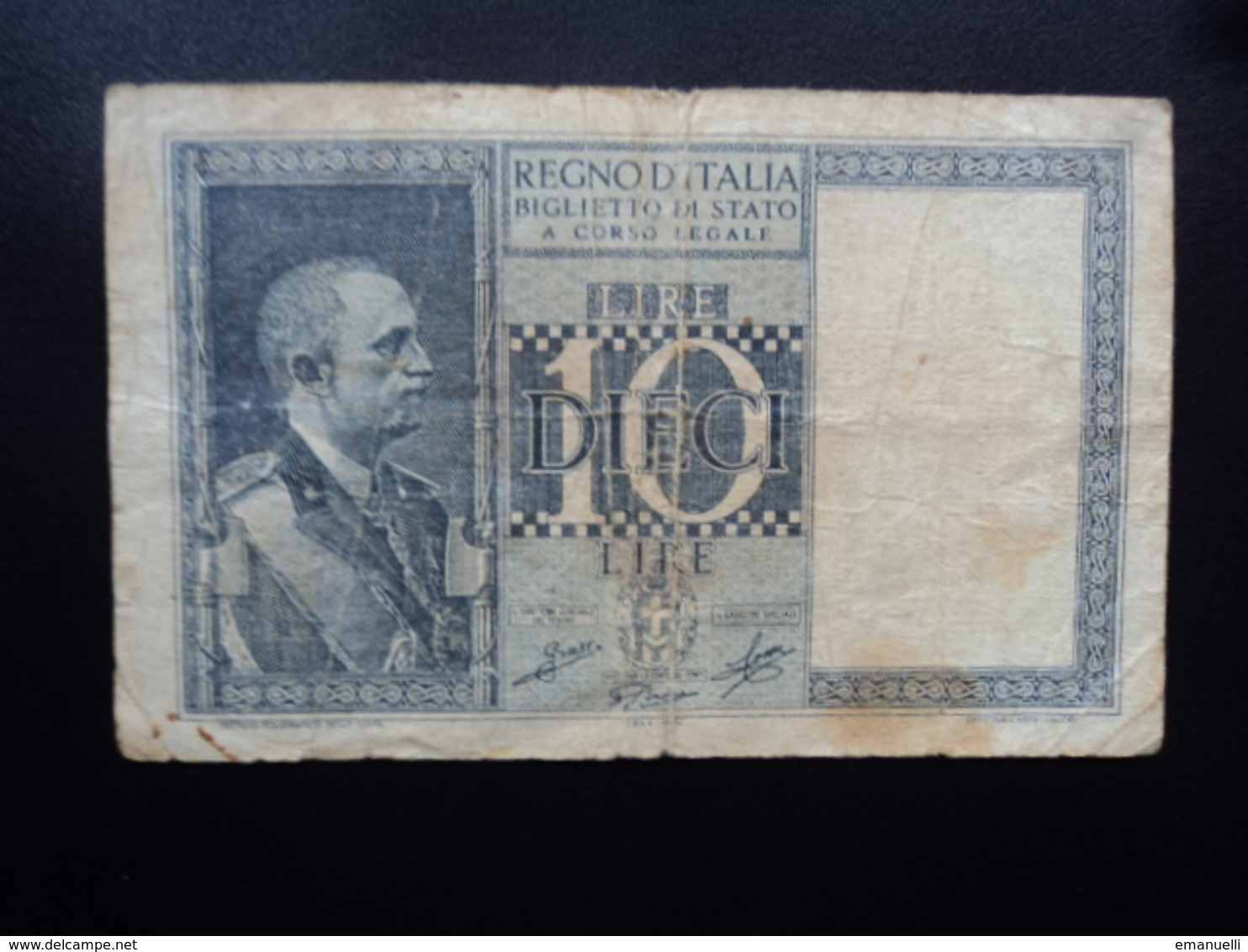 ITALIE : 10 LIRE  1944 - XXII  P 25c / CI 16 / BS 46 *  B+ - Italia – 10 Lire