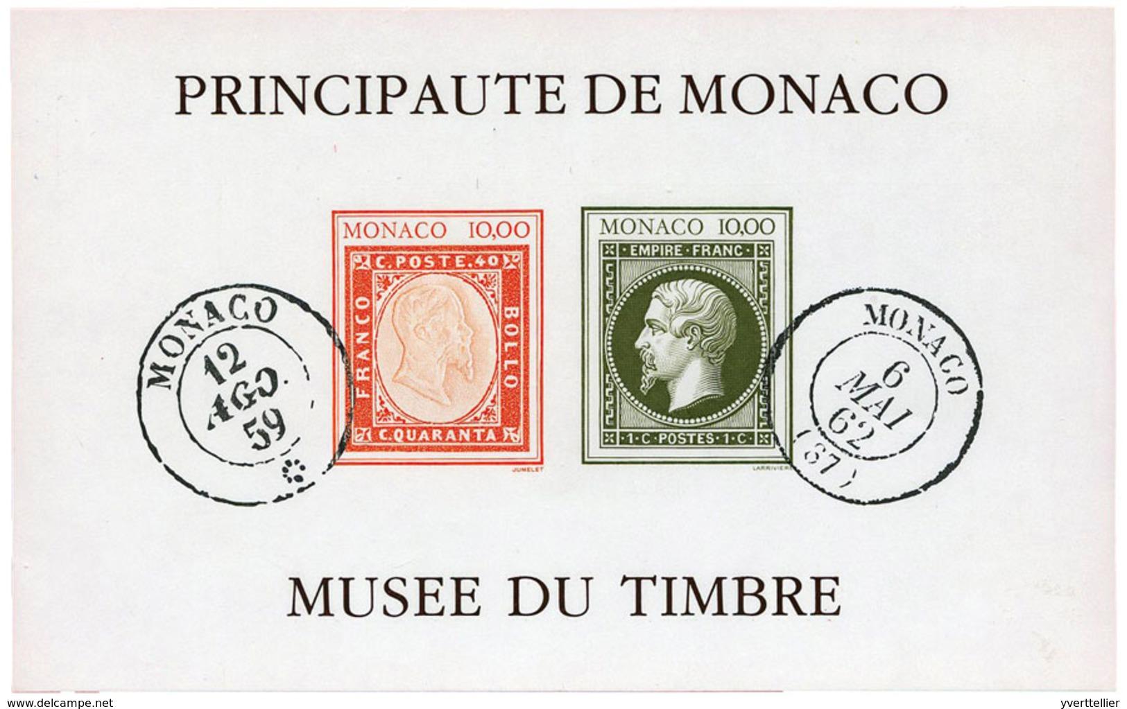 742 Monaco BF N°58a** Création Du Musée De La Poste Non Dentelé - Blokken