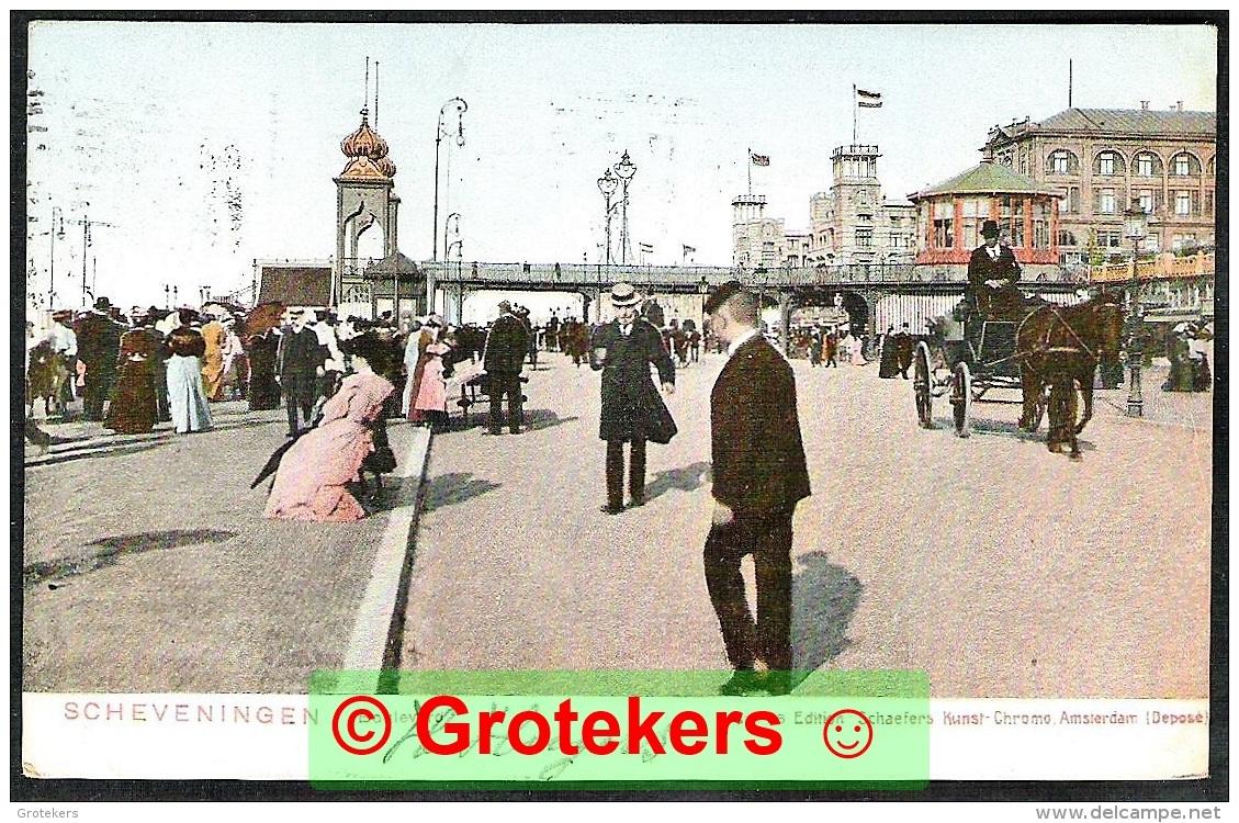 SCHEVENINGEN Boulevard 1906 Met Proefstempel Columbia Electrische Machine - Scheveningen