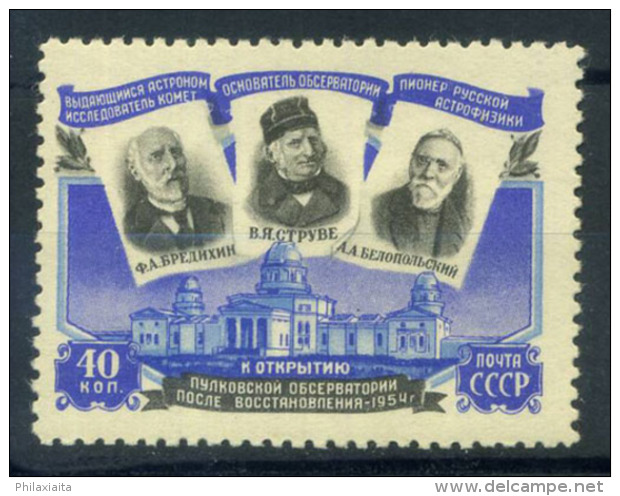 Unione Sovietica 1954 Mi. 1724 Nuovo ** 100% Osservatorio Di Pulkowa - Unused Stamps