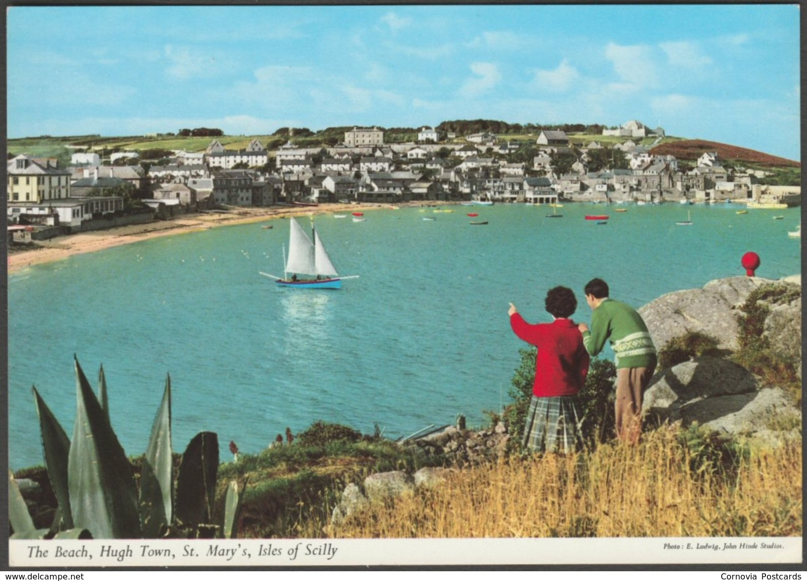 The Beach, Hugh Town, St Mary's, Isles Of Scilly, C.1970s - John Hinde Postcard - Scilly Isles