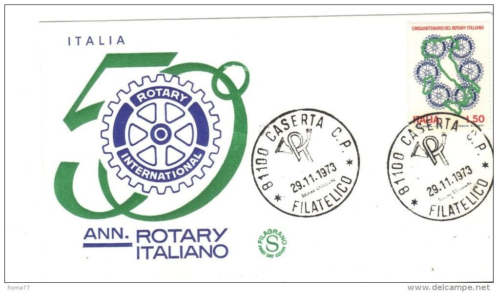 """237b - FDC REPUBBLICA:  """" ROTARY """"  29/11/973 - Rotary, Lions Club"""