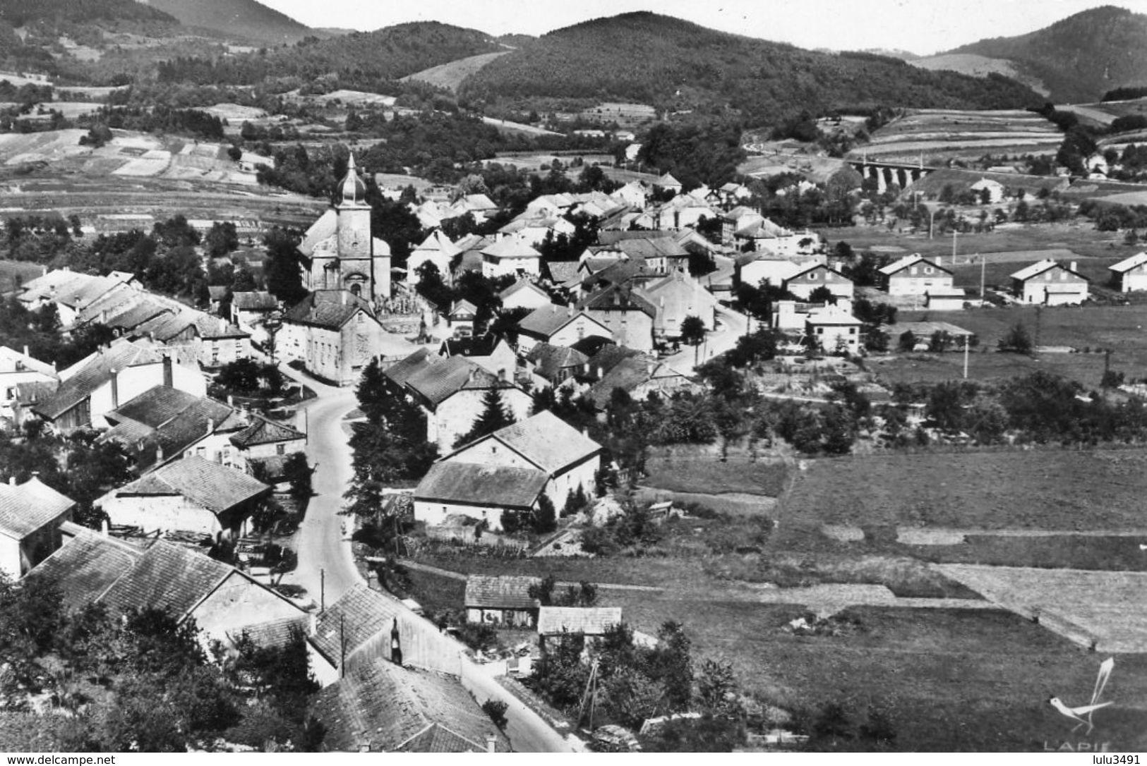 CPSM Dentelée - COLROY-la-GRANDE (88) - Vue Aérienne Du Bourg Dans Les Années 50 - Colroy La Grande