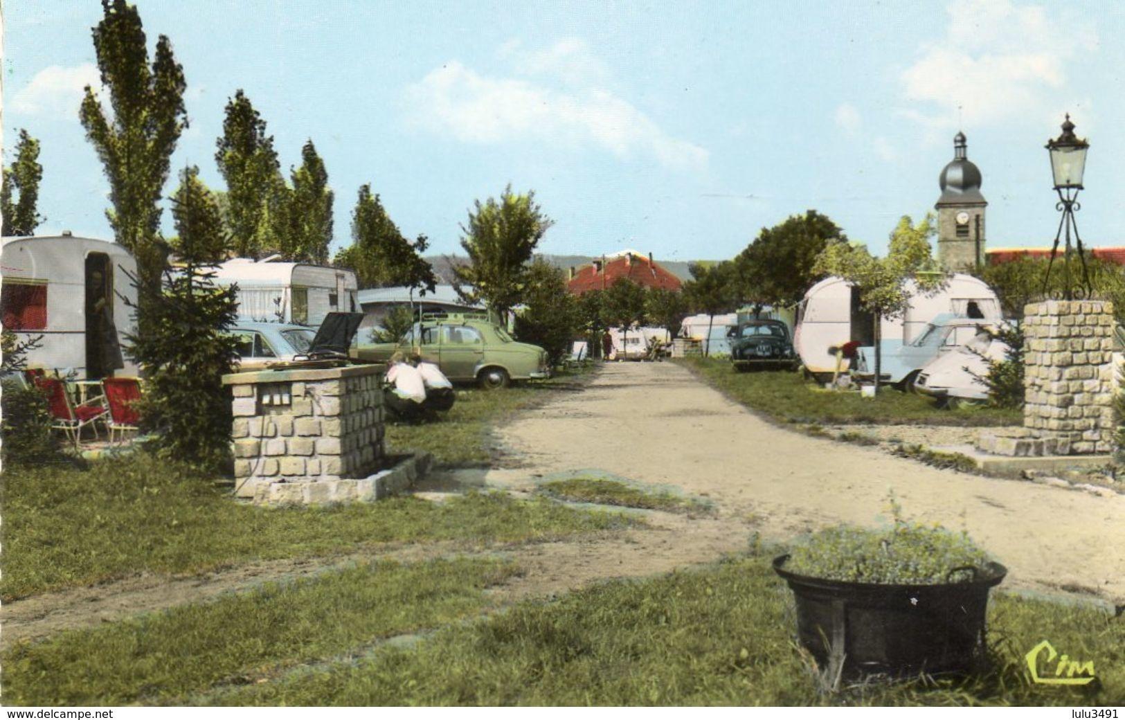 CPSM Dentelée - CORCIEUX (88) - Aspect Du Camping Du Camp De La Tour - Corcieux