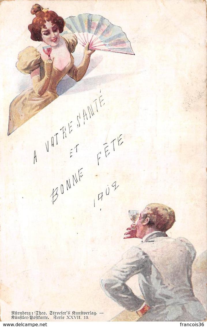 Allemagne - Illustration Ed. Nürnberg - Couple Vin 1902 - Germany