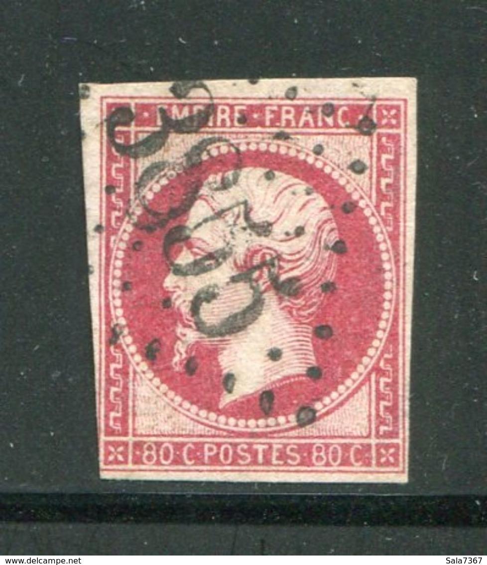 Y&T N°17B- Gros Chiffre 3855 - 1849-1876: Periodo Classico