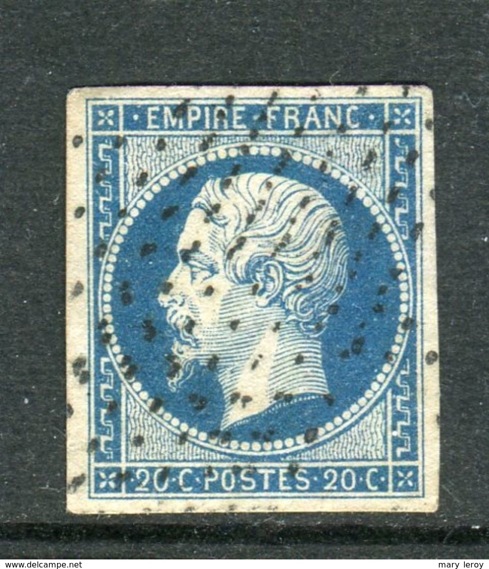 Rare N° 14A Cachet Roulette D'étoiles - 1853-1860 Napoléon III