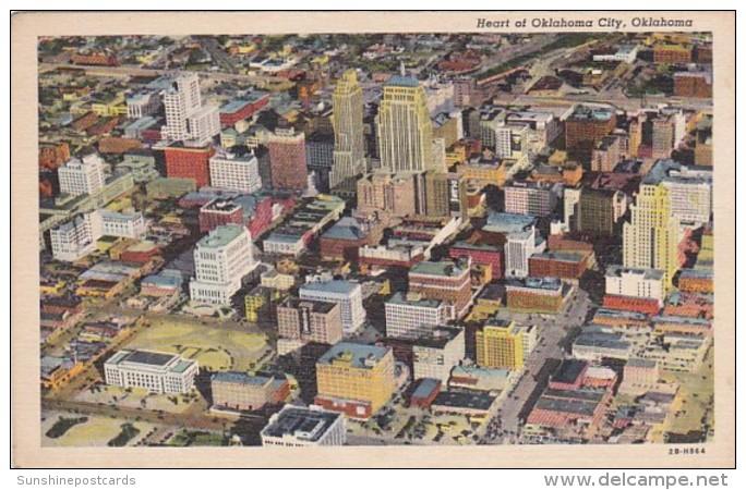 Oklahoma Oklahoma Aerial View Curteich