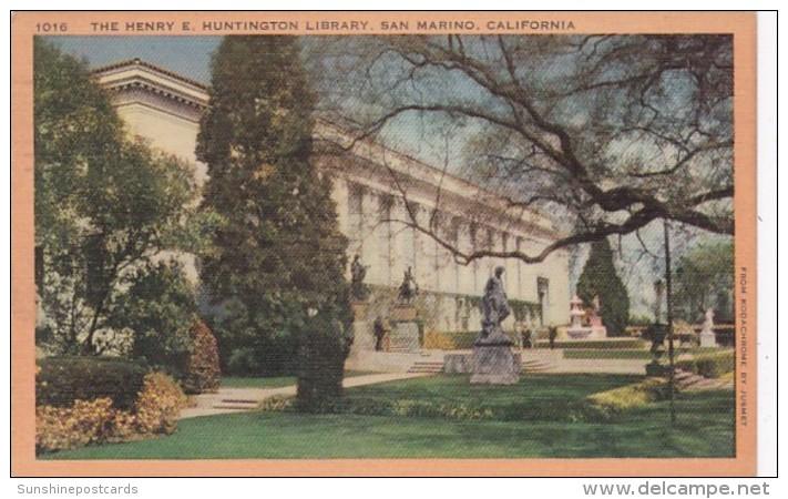 California San Marino The Henry E Huntington Library 1948
