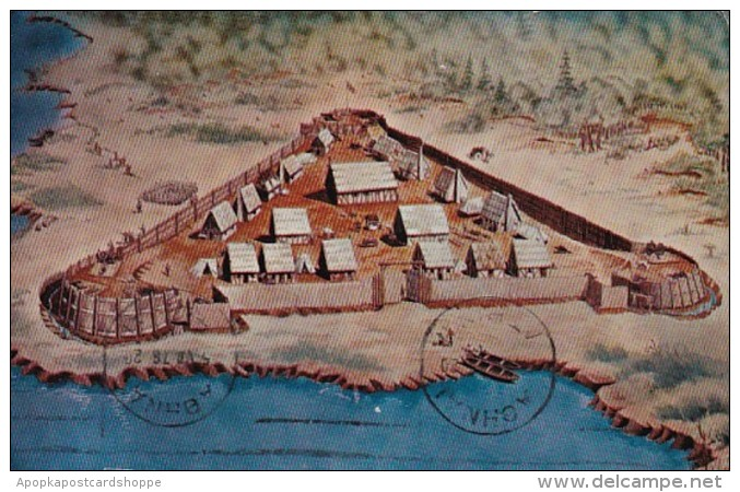 Virginia Jamestown Artist's Conception Of James Fort 1978
