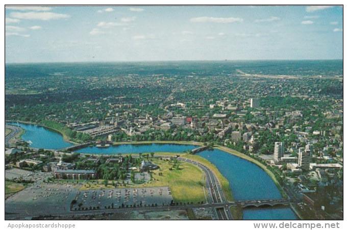 Massachusetts Cambridge Aerial View Harvard University and Charl