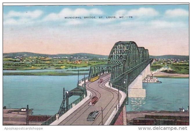 Missouri St Louis Municipal Bridge