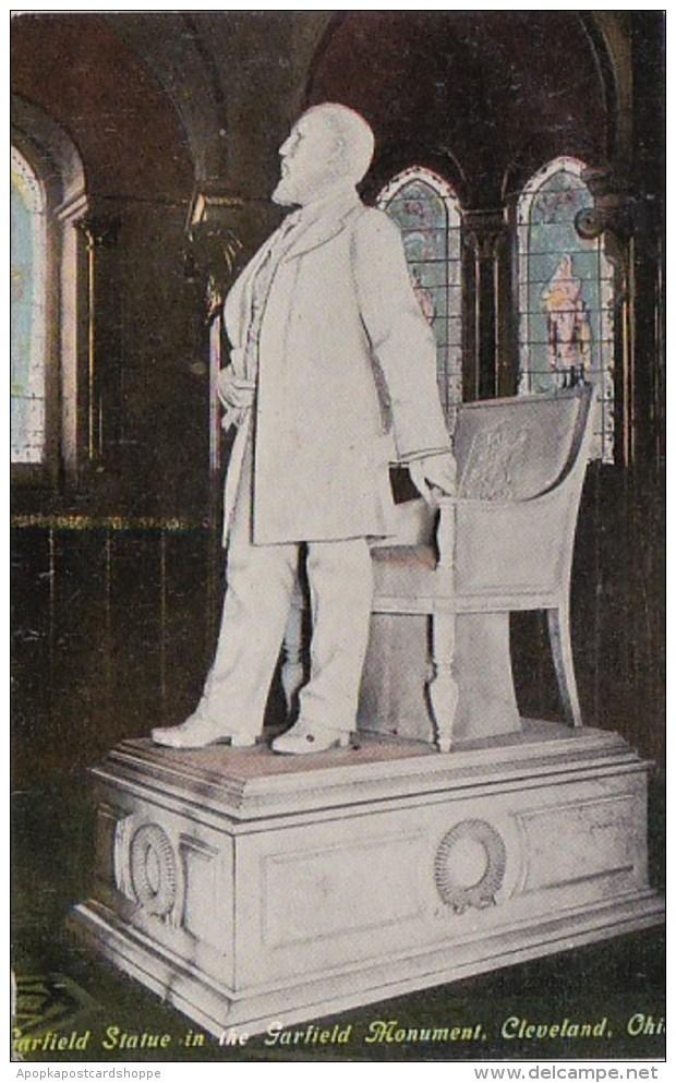 Ohio Cleveland Garfield Statue In The Garfield Monument