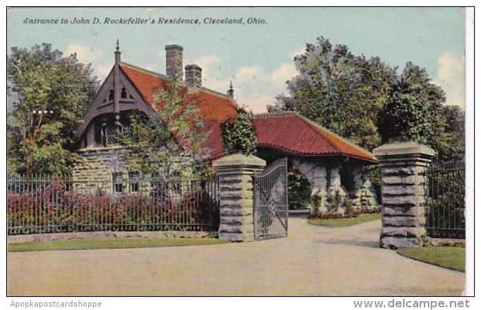 Ohio Cleveland Entrance To John D Rockefeller's Residence 1911
