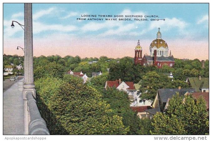 Ohio Toledo Looking Toward Good Shepherd Church From Anthony Way