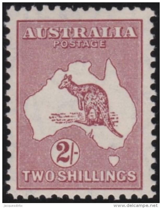 Australia   .    SG   .    134      .      Wm   C Of A       .    **            .      MNH   .   /   .    Postfris - 1913-48 Kangaroos