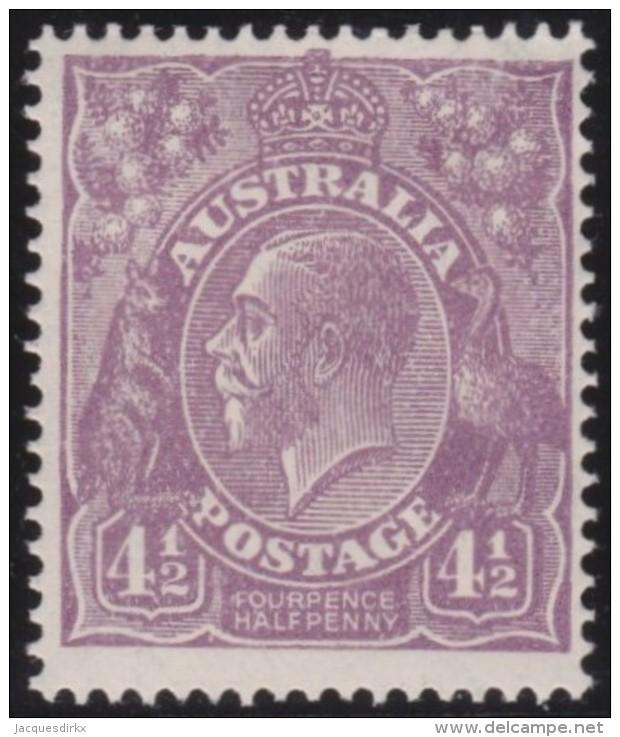 Australia   .    SG   .     92     .      Wm   Small  Multiple Crown  .    **    .      MNH   .   /   .    Postfris - 1913-36 George V : Hoofden