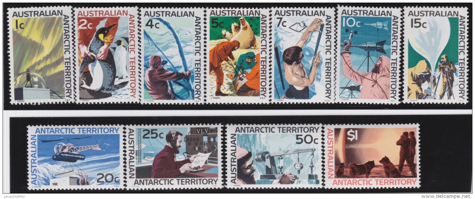 Antarctic Territory     .    SG   .     8/18        .        **    .      MNH   .   /   .    Postfris - 1980-89 Elizabeth II