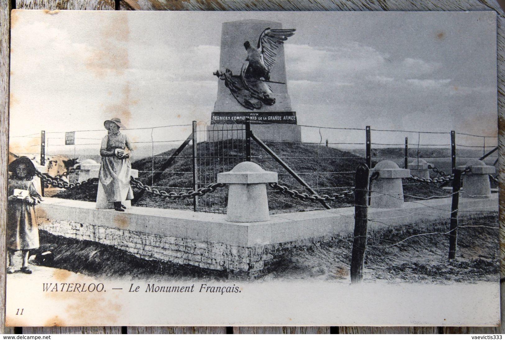 1877 CPA WATERLOO LE MONUMENT AUX FRANCAIS 1910 M63 - Waterloo
