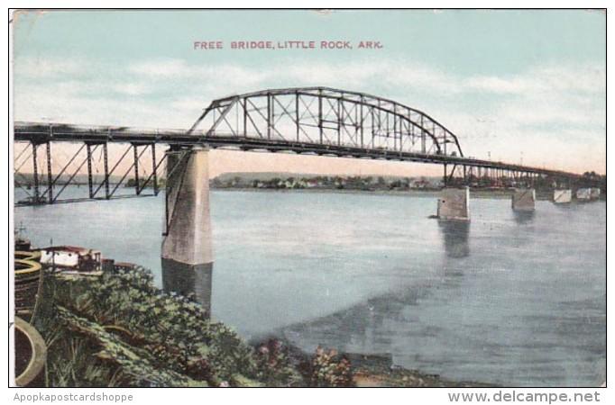Arkansas Little Rock Free Bridge 1909