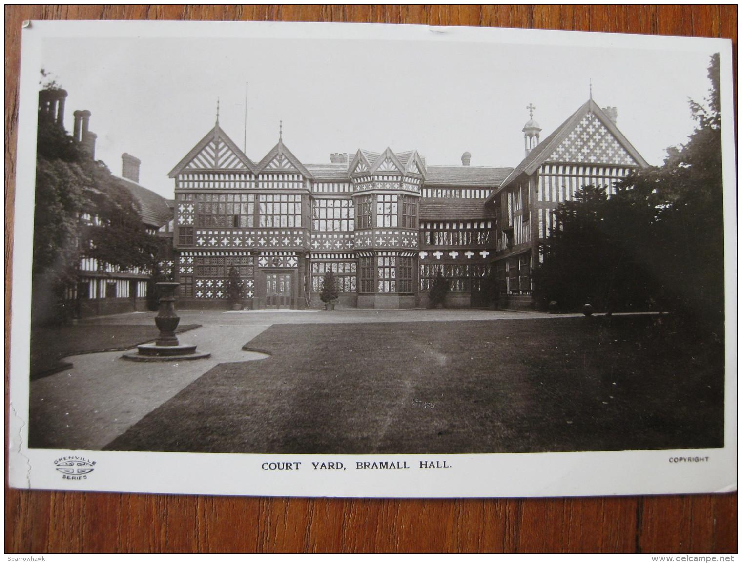 Court Yard, Bramhall Hall, Cheshire (RP) - Posted 1913 - Otros