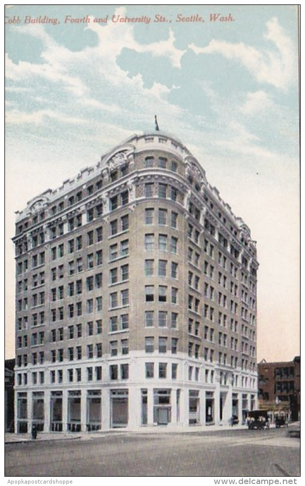 Washington Seattle Cobb Building Fourth and University Streets