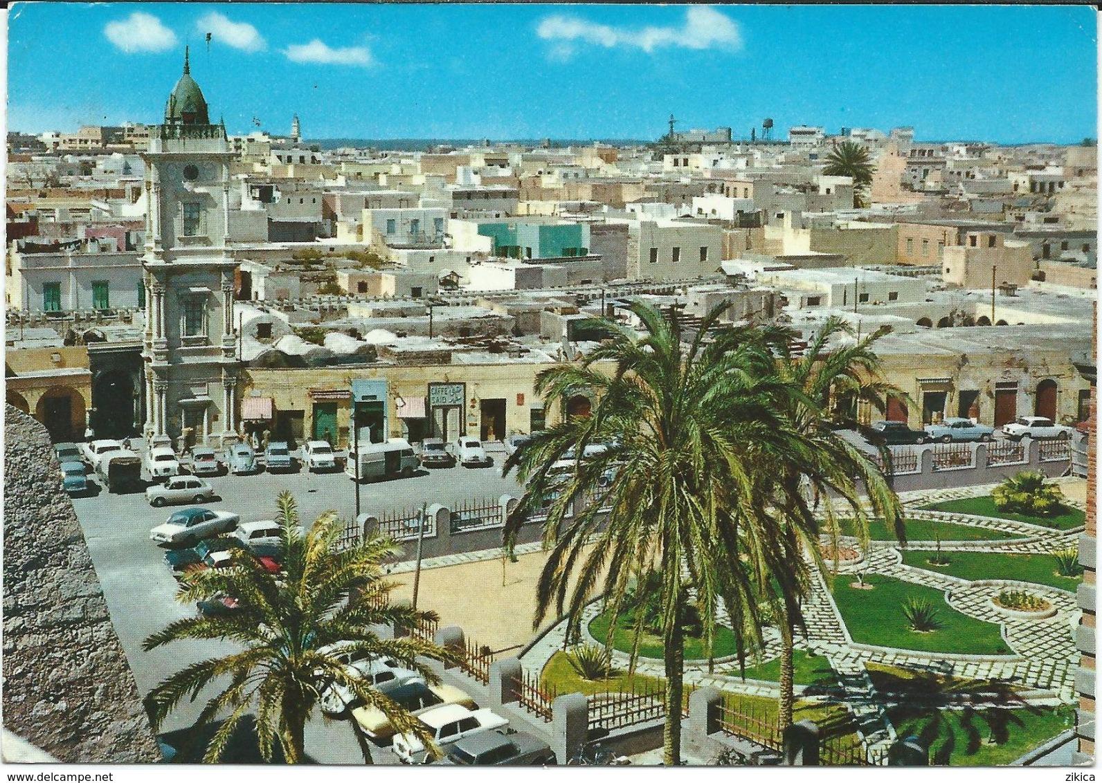 Libya/Libia/Libye Tripoli Via Yugoslavia.nice Stamp - 1966 Tuareg - Camels - Libye