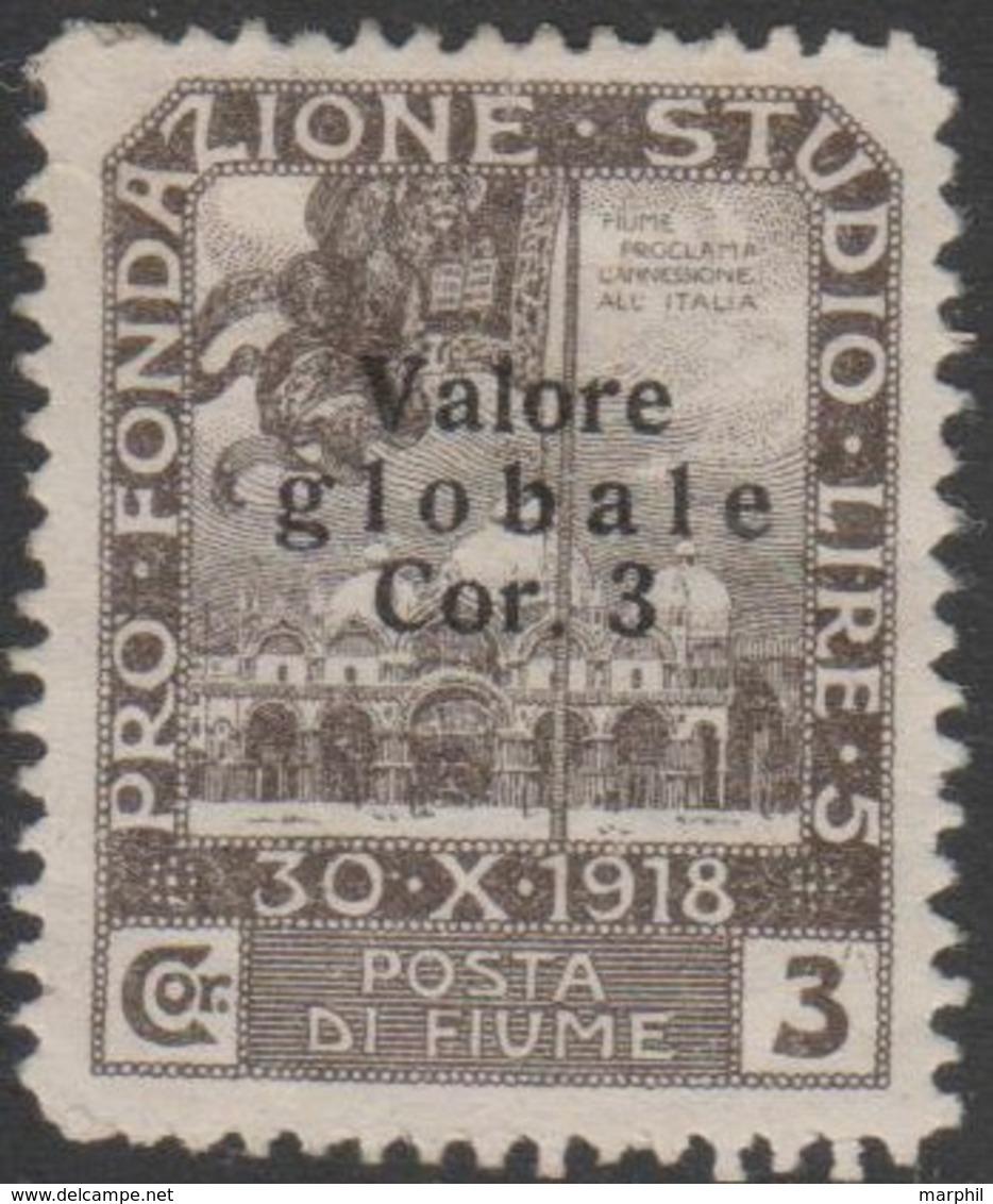 Fiume 1919 3 Kor  Sa97 1v MH/* - Fiume
