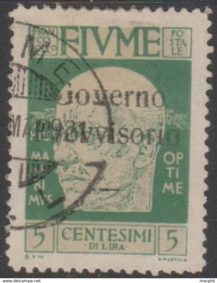 Fiume 1921 5 Cent Sa149 1v (o) - Bezetting 1° Wereldoorlog