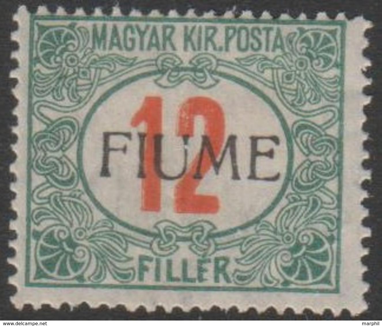 Fiume 1915 12 Filler Sa9 1v. MH/* - Fiume