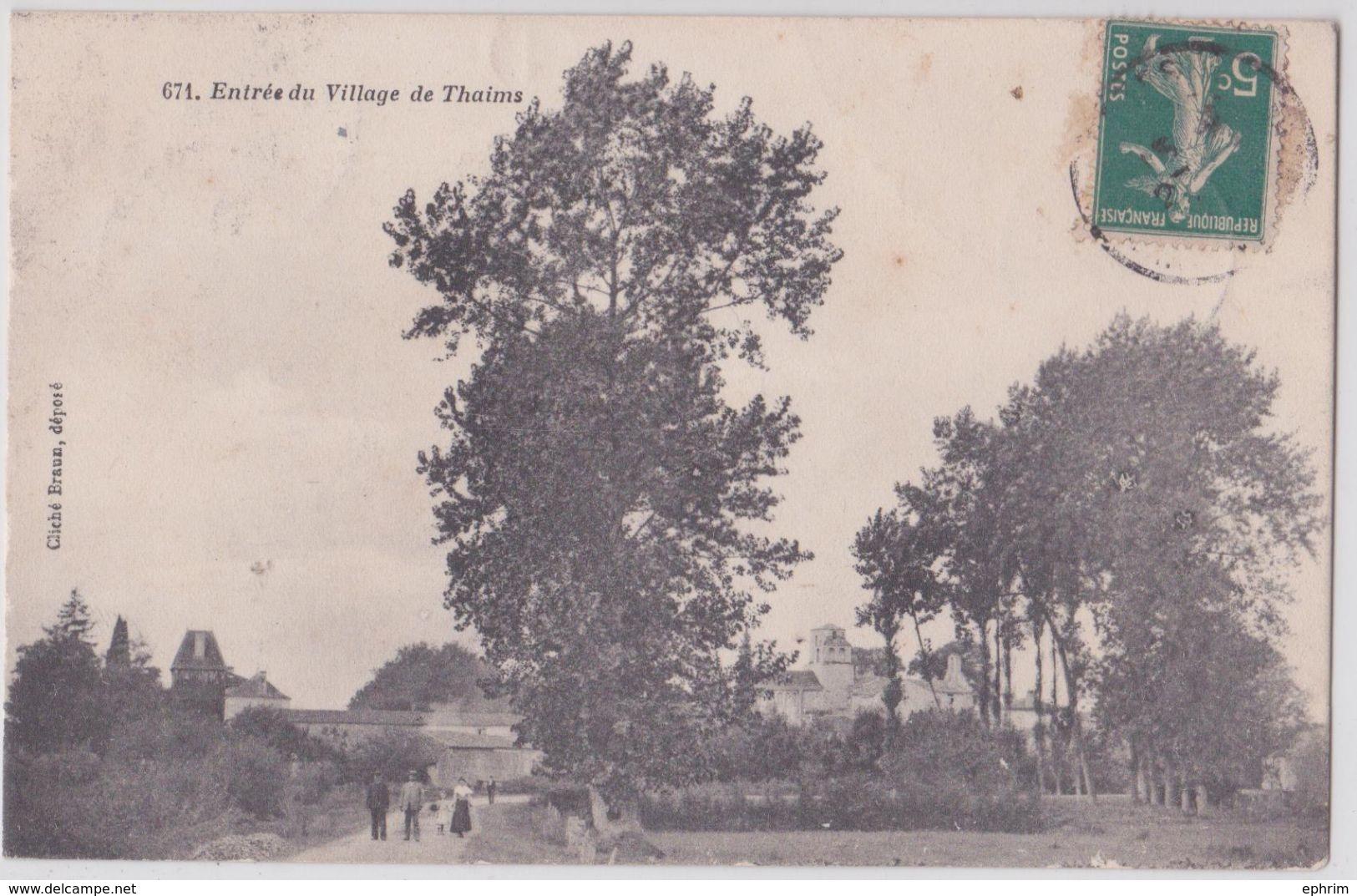 Entrée Du Village De THAIMS - Andere Gemeenten