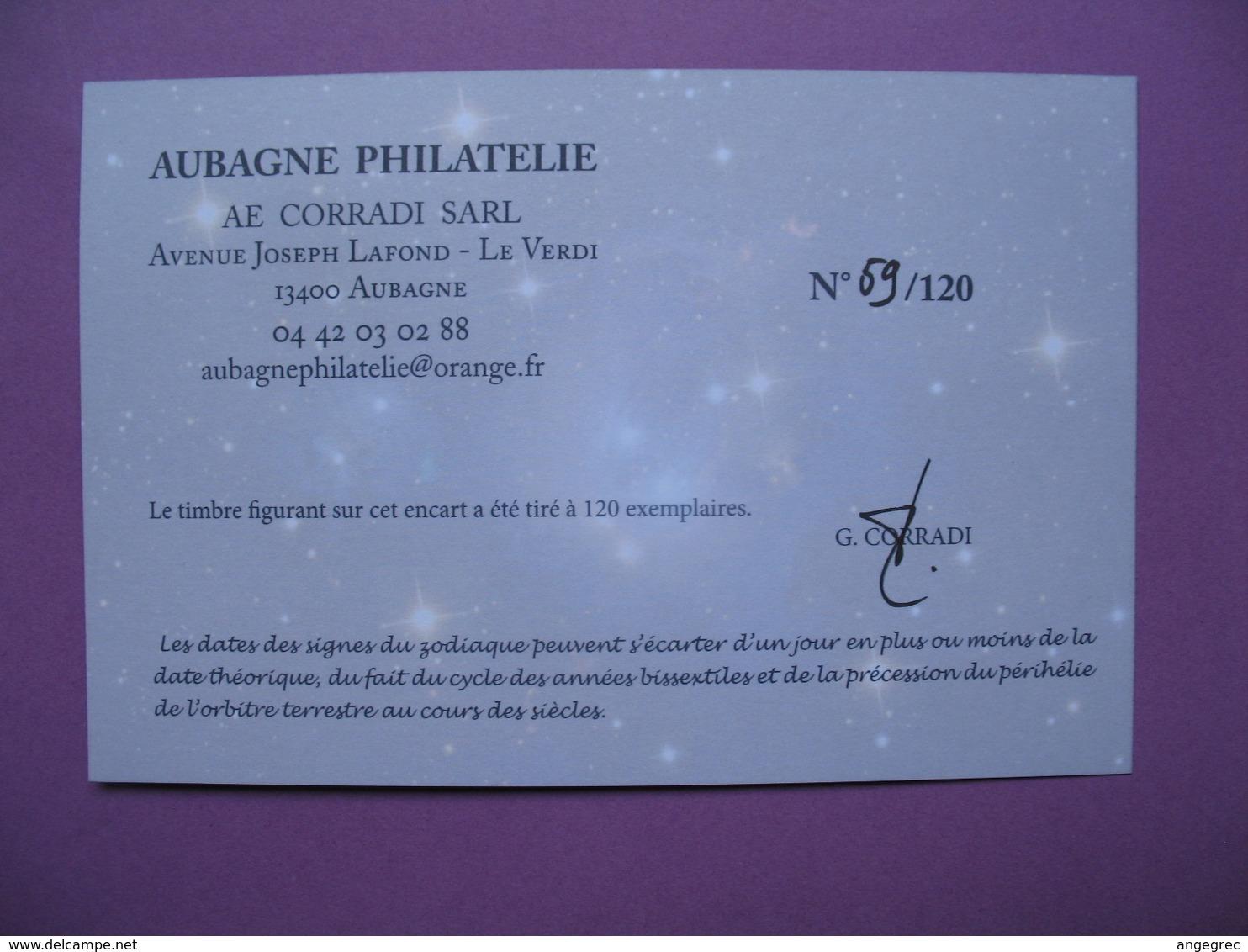 Pièce De Collection Aubagne Philatélie   N° 69/120  Signe Du Zodiaque Poisson (Nous Servons)  Avec Timbre - France