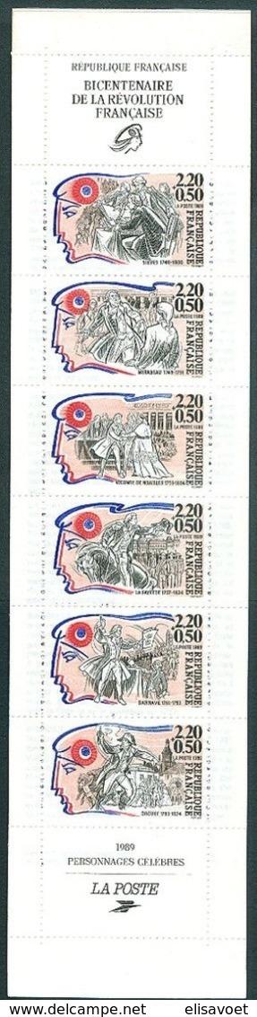 France Frankrijk 1989 Yvertn° Carnet   BC2570  2564-2569 *** MNH Cote 7 Euro - Personnages
