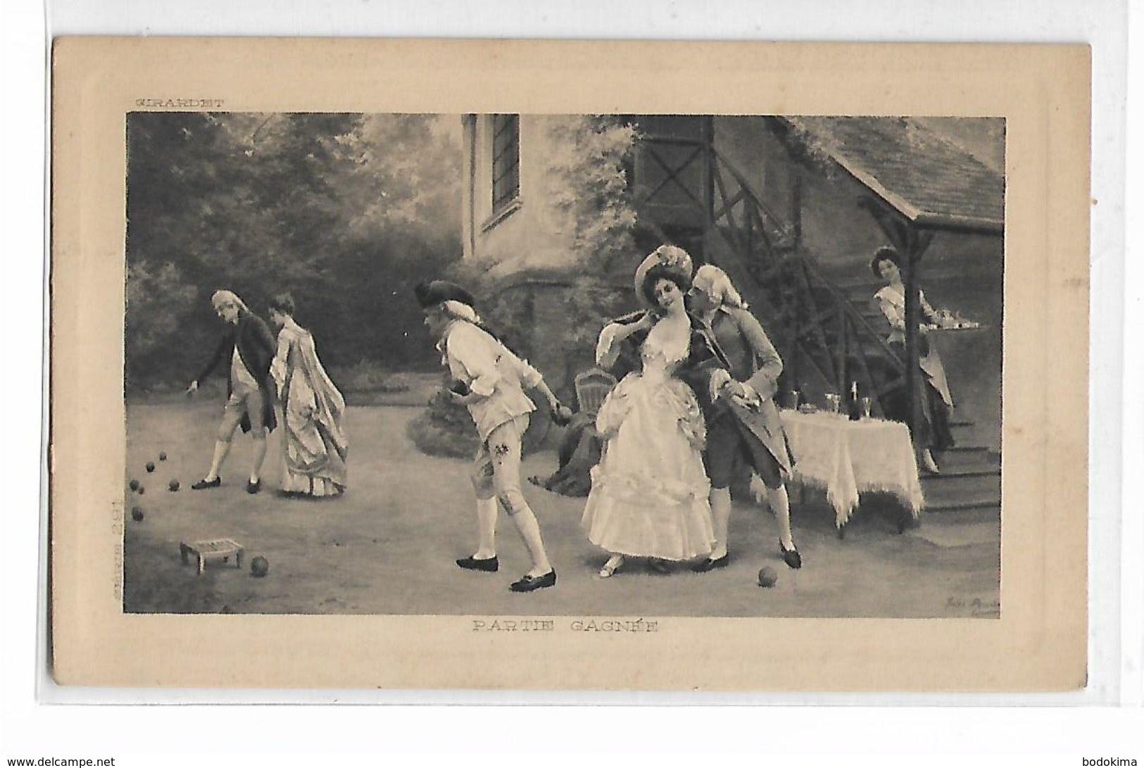 """Girardet    -   """"    Partie  Gagnée  """" - Peintures & Tableaux"""
