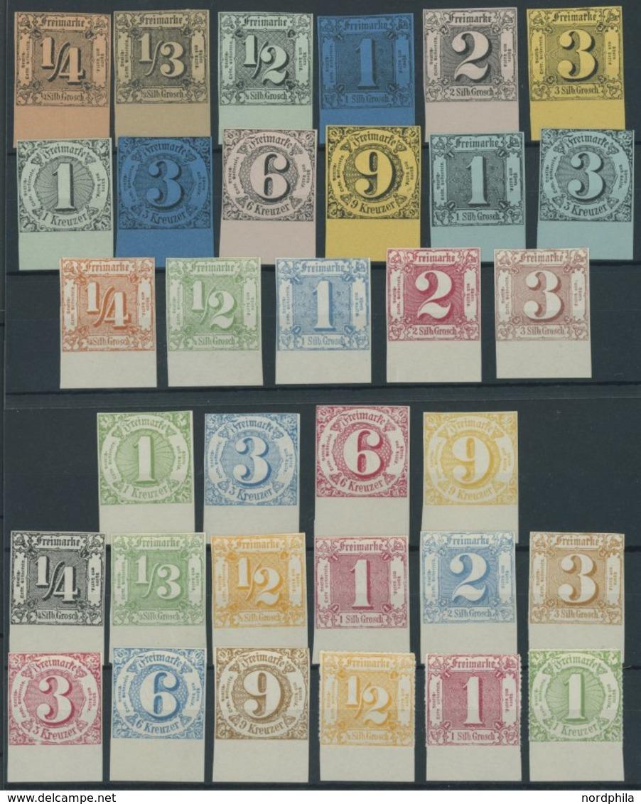 THURN Und TAXIS Aus 1-41 ND (*), 1909, 33 Neudrucke Komplett, Alle Vom Unterrand, Pracht - Thurn Und Taxis