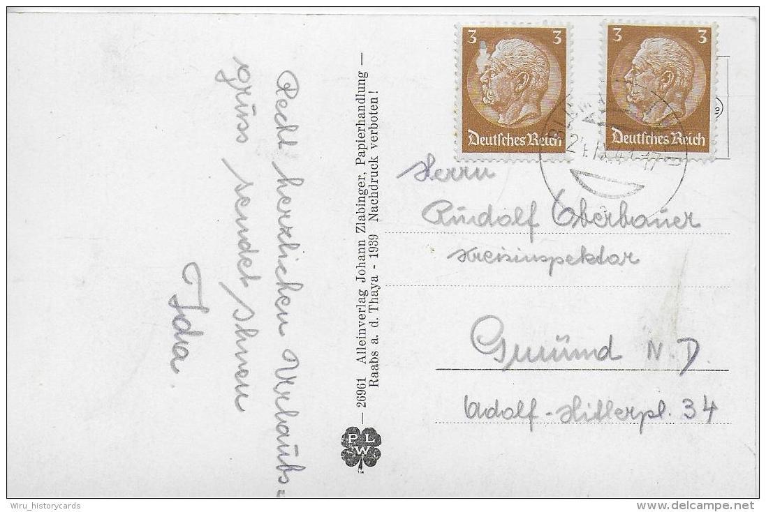 AK 0879  Raabs An Der Thaya ( Schloss ) - Verlag Zlabinger Um 1939 - Raabs An Der Thaya