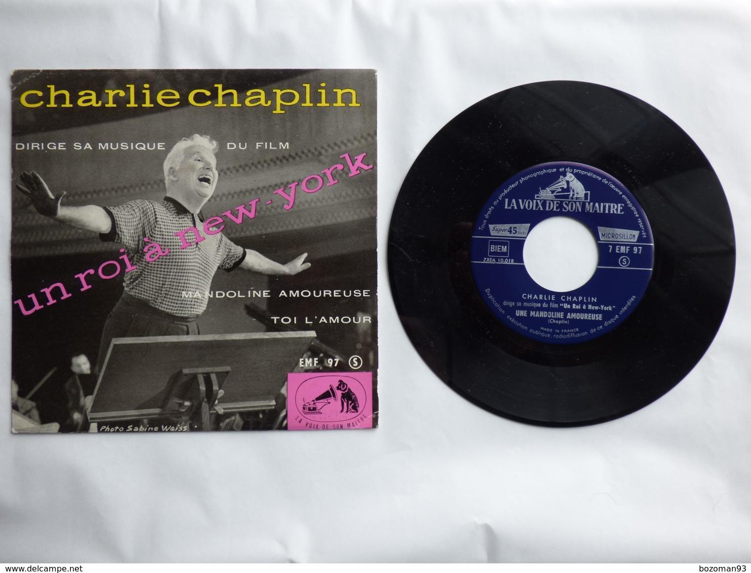 .O.F  UN ROI A NEW YORK   Label  DUCRETET THOMSON EMF 97 CHARLIE CHAPLIN - Filmmusik