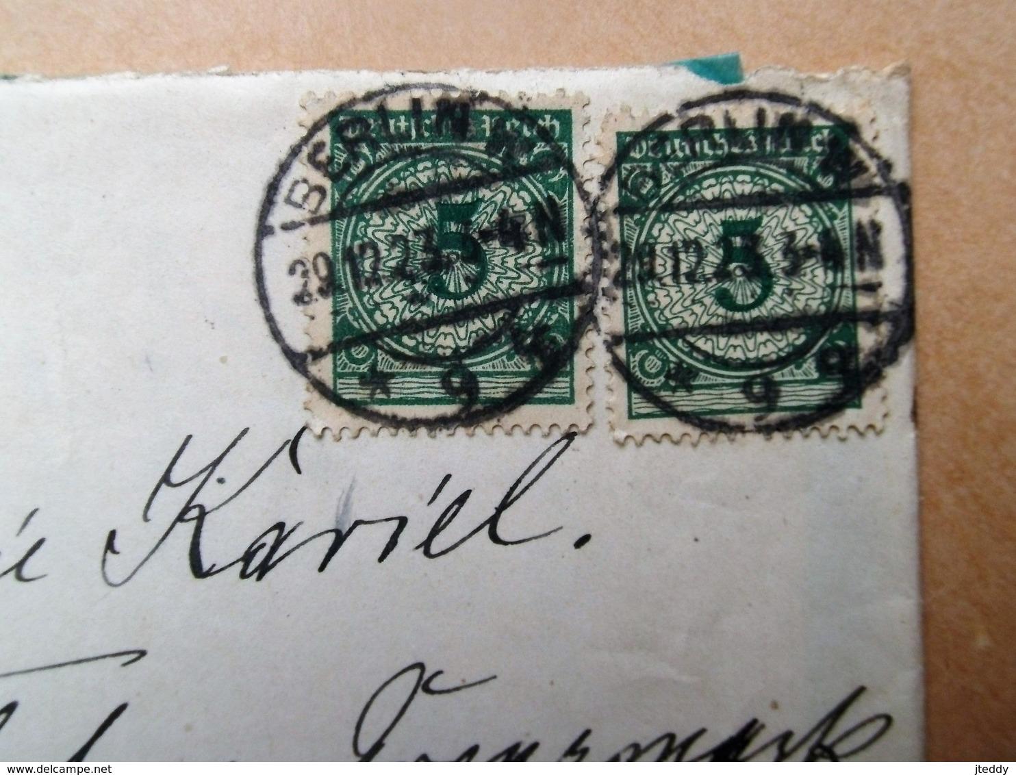 Brief Met 2 Postzegels Afgestempeld In  BERLIN  W. 1923 - Lettres & Documents