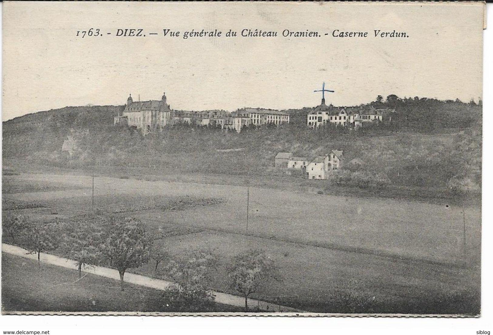 CPA - DIEZ - Vue Générale Du Château Oranien - Caserne Verdun (de Dépliant) - Diez