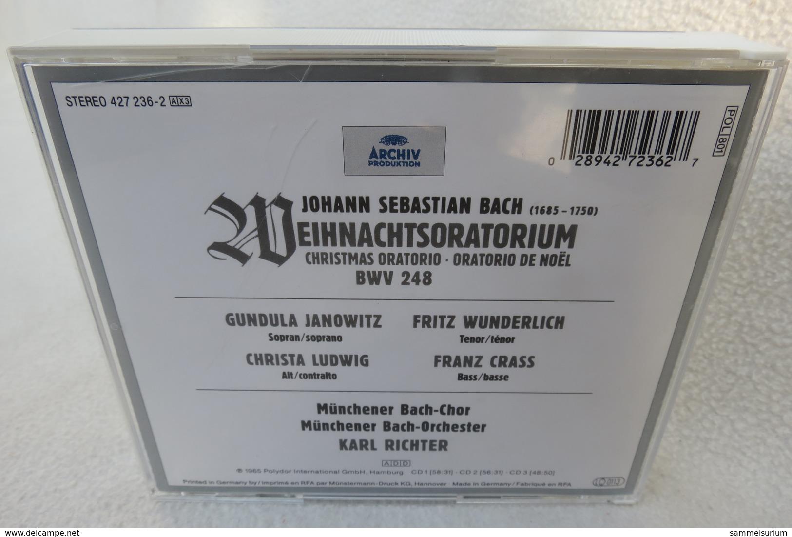 """3 CDs """"Bach Weihnachtsoratorium"""" Münchener Bach-Chor Und Bach-Orchester Karl Richter - Klassik"""